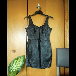 Charlotte Russe Faux Leather Dress